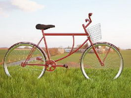 Vintage Cruiser Bike 3d preview