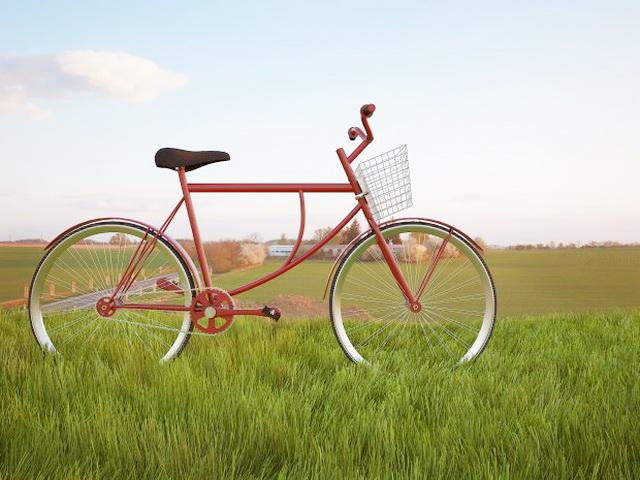 Vintage Cruiser Bike 3d rendering