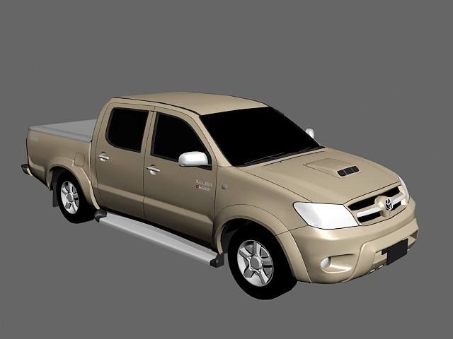 Toyota Hilux 3d rendering