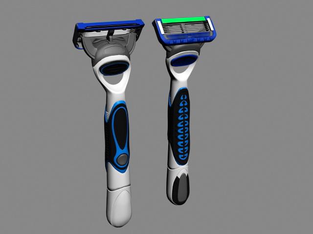 Shaving Razor 3d rendering
