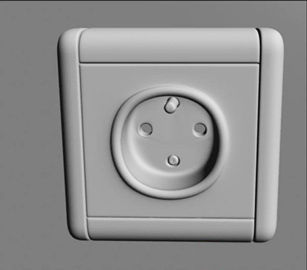 Electrical Wall Outlet 3d rendering