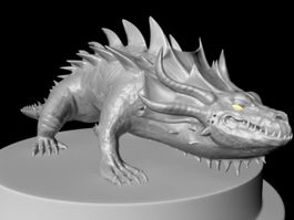 Crocodile Creature 3d preview