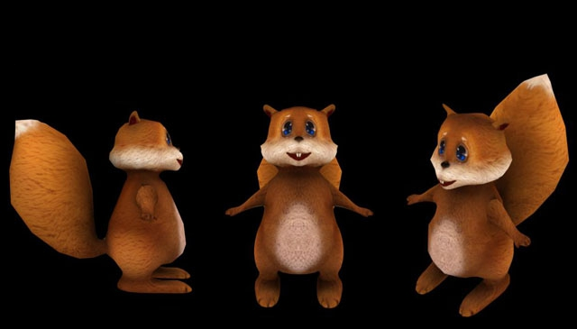 Cute Fat Squirrel 3d rendering