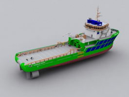 Tug Boat 3d preview