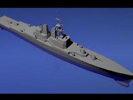 Cruiser Warship 3d model preview