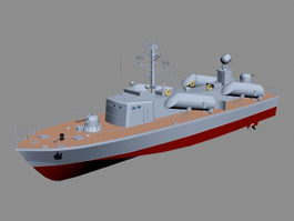 Modern Missile Boat 3d preview