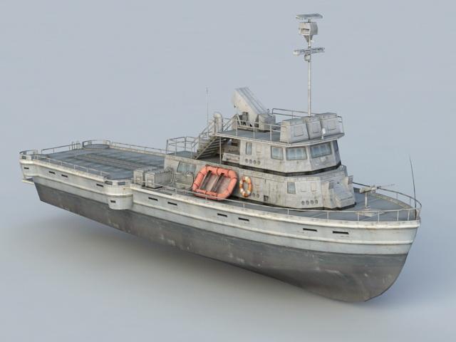 Military Patrol Boat 3d rendering