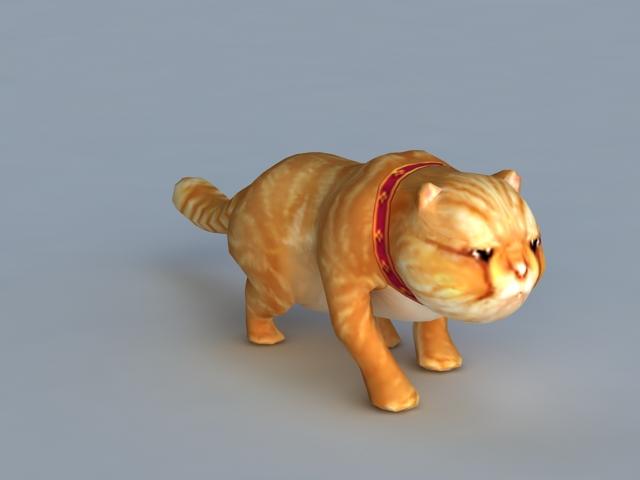 Garfield Cat Rig 3d rendering