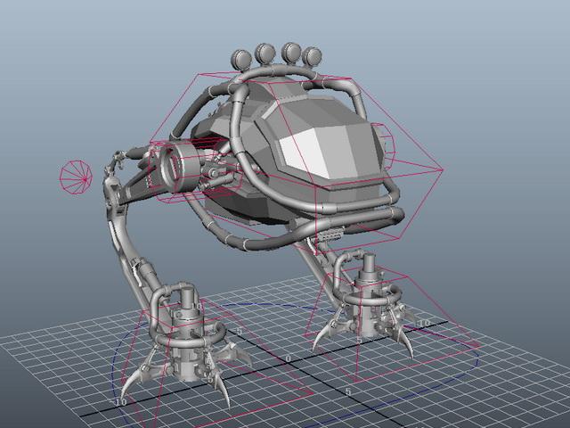 Walking War Robot 3d rendering