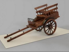 Wooden Cart 3d preview