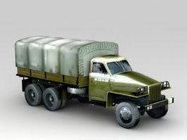 Studebaker U3 Furgon Military Truck 3d model preview