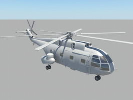 SA 321 Super Frelon Heavy Transport Helicopter 3d preview