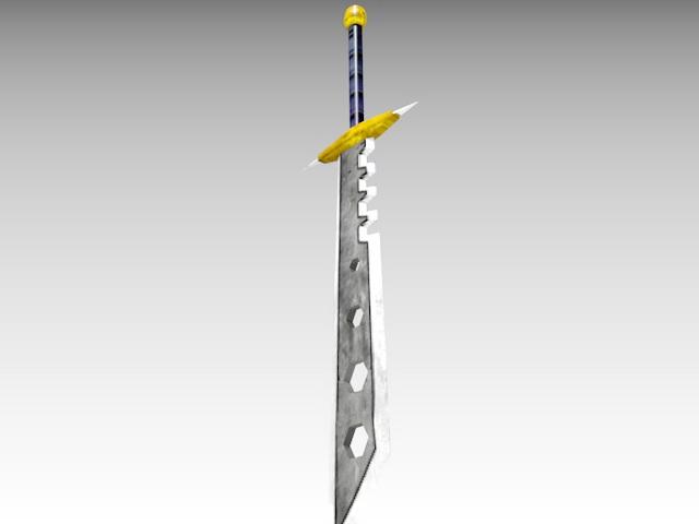 Jagged Sword 3d rendering