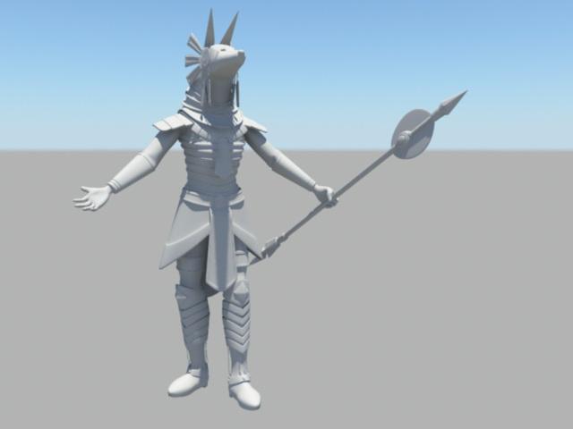 Egyptian High Priest 3d rendering