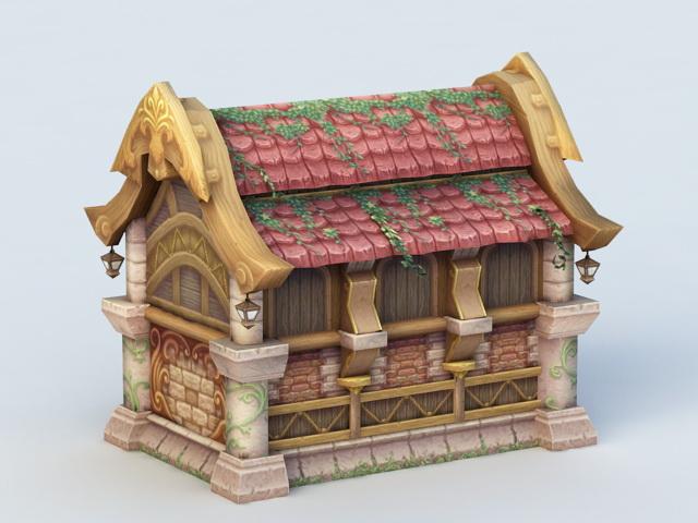 Cartoon House 3d rendering