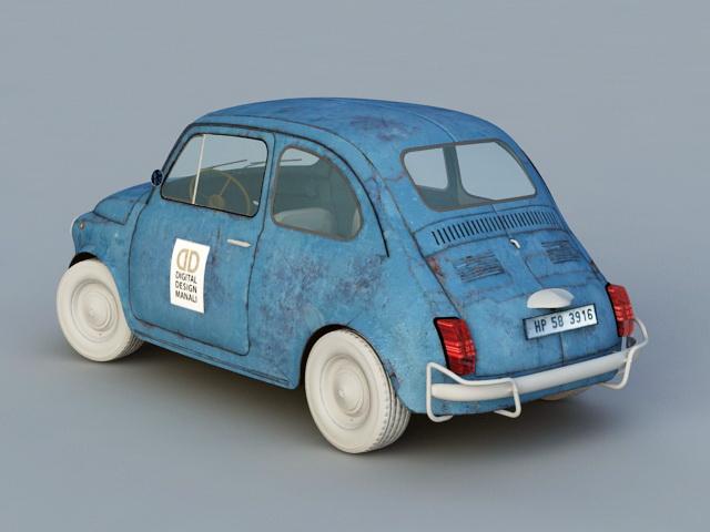 1959 Fiat 500 N 3d rendering