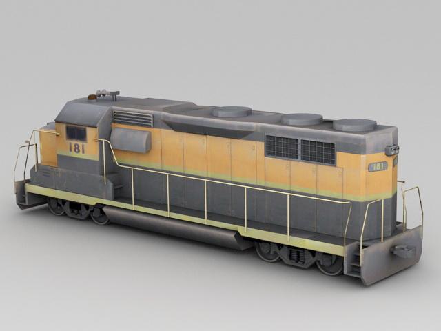 Train Enginecar 3d rendering