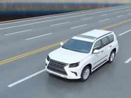 Lexus SUV White 3d preview