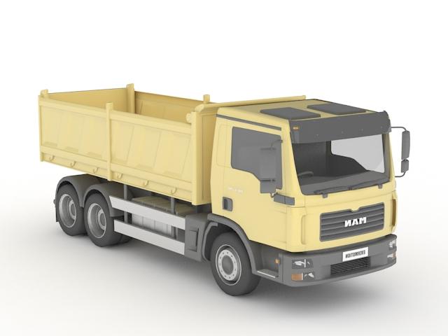 Tipper Lorry 3d rendering