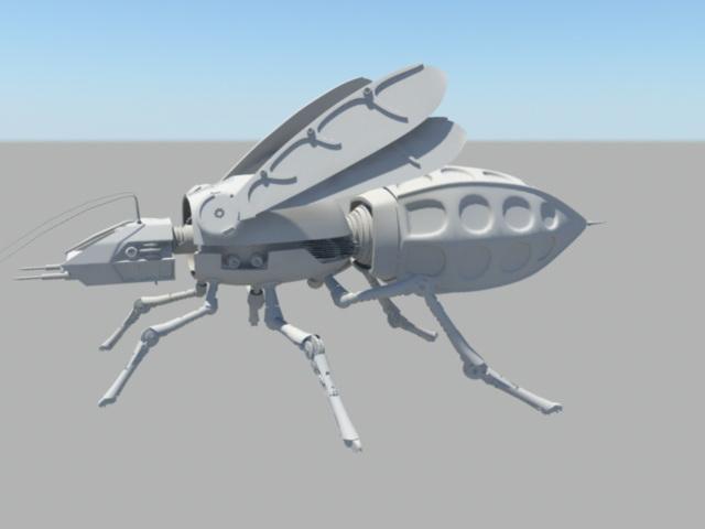 War Wasp Robot 3d rendering