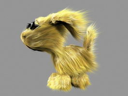 Blonde Dog 3d model preview