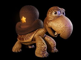 Mountain Turtle Cartoon 3d model preview