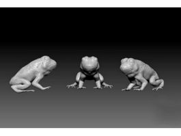 Cute Frog 3d model preview