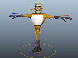 Robot Superman Rig 3d model preview