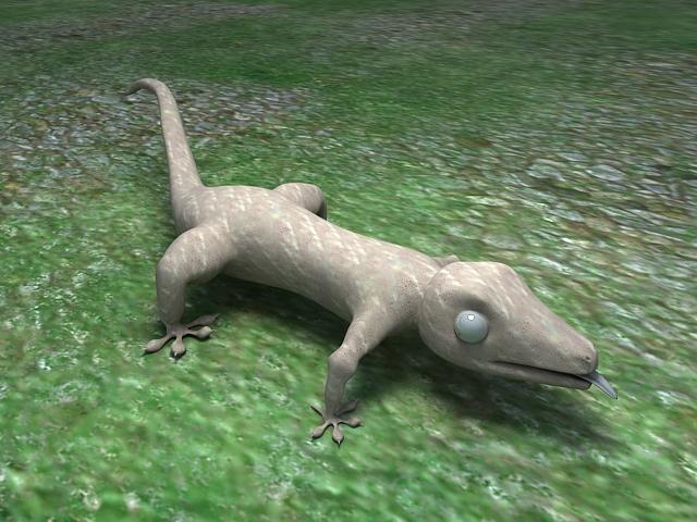 Gecko Lizard 3d rendering