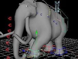 Elephant Rig 3d preview