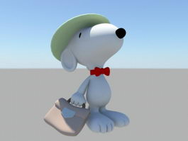 Snoopy Working 3d preview