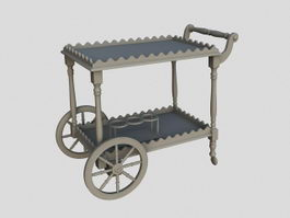 Dining Room Serving Cart 3d preview