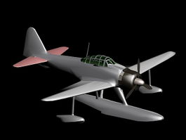 Nakajima A6M2-N 3d preview