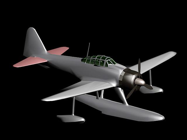 Nakajima A6M2-N 3d rendering