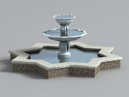 Gardens Star Fountain 3d preview
