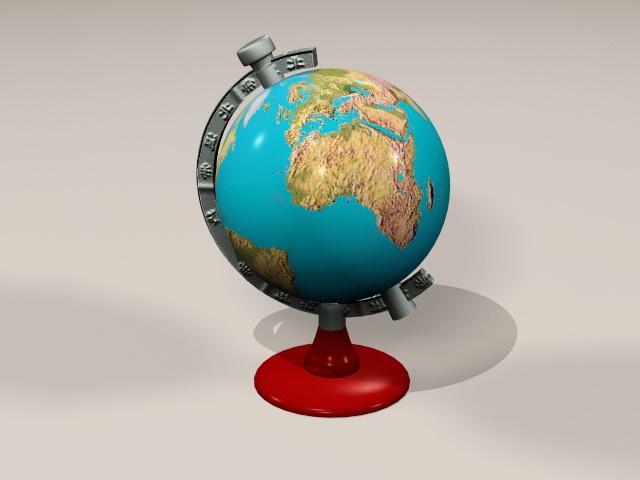 Vintage Globe 3d rendering