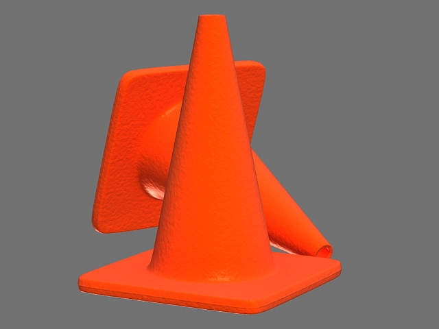 Red Traffic Cone 3d rendering