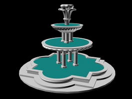 3 Tier Fountain 3d preview