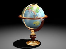 Office Globe 3d preview