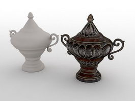 Antique Chinese Vases 3d model preview