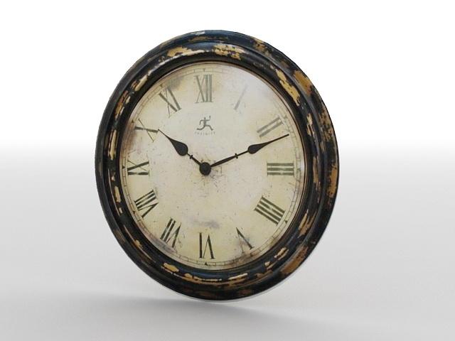 Antique Wall Clock 3d rendering