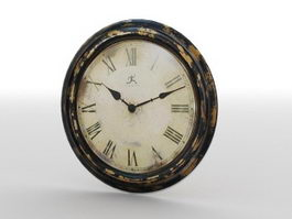 Antique Wall Clock 3d preview