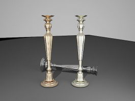 Antique Candle Holders 3d model preview