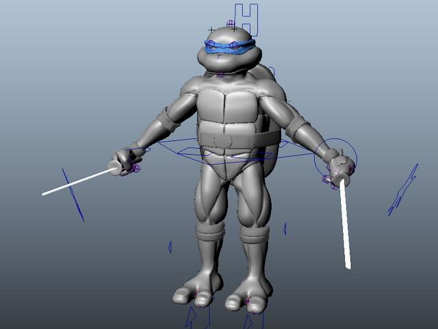 Ninja Turtle Rig 3d rendering