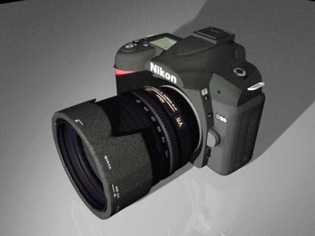 Nikon D90 Camera 3d rendering