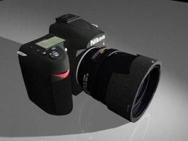 Nikon D90 Camera 3d model preview