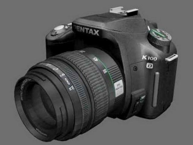 Pentax K100D DSLR Camera 3d rendering