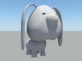 Cute Cartoon Dog 3d preview