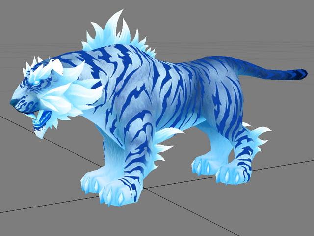 Blue Tiger 3d rendering