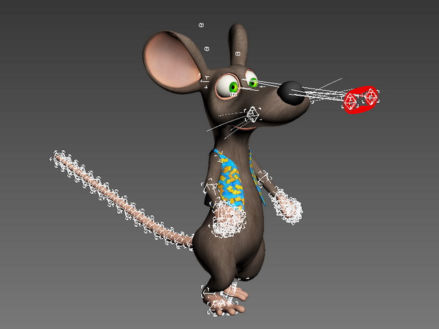 Cartoon Mouse Character Animation 3d rendering